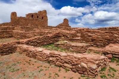 San Gregorio Church at Abo Ruins, Salinas Pueblo Missions. New Mexico, USA