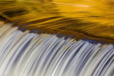 Golden Middle Branch of the Ontonagon River, Bond Falls Scenic Site, Michigan USA