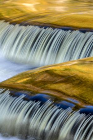 Golden Middle Branch of the Ontonagon River, Bond Falls Scenic Site, Michigan USA