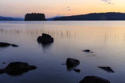 Dawn on Lake Umbagog in Errol, New Hampshire.