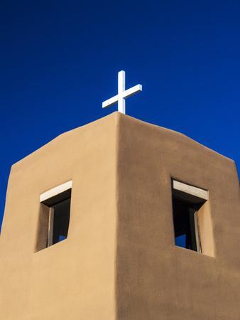 USA, New Mexico, Exterior facade of Sacred Heart Church in Nambe New Mexico