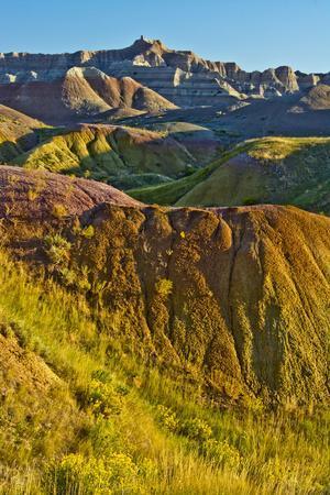 Painted Hills, Badlands Loop Trail, Badlands National Park, South Dakota, USA