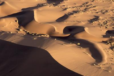 Namibia, Namib-Naukluft Park. Abstract aerial of sand dunes.