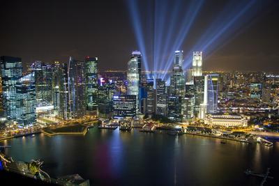 Singapore. City at night.