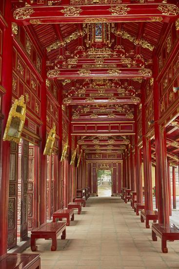 Corridor In The Forbidden Purple City Imperial City Hue Vietnam Premium Photographic Print David Wall Allposters Com