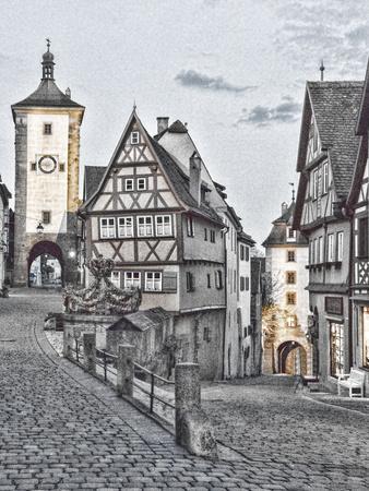 Germany, Rothenberg ob der Tauber, Ploenlein Triangular Place