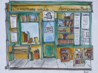 Famous Shakespeare and Co. bookstore along the Seine, Paris, France