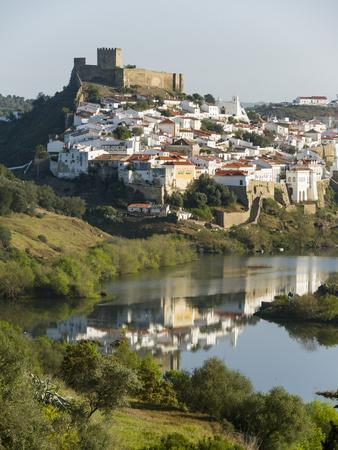 Mertola on the banks of Rio Guadiana in the Alentejo. Portugal