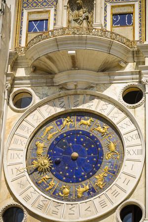 The Torre dell'Orologio in the Piazza San Marco, Venice, Veneto, Italy