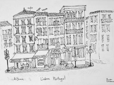 Historic district of Alfama, Lisbon, Portugal