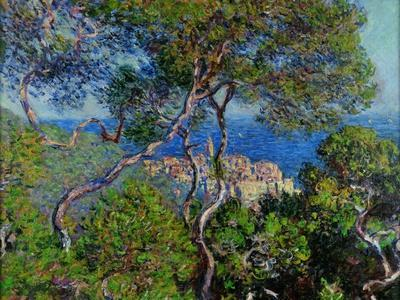 View of Bordhighera, Italy.