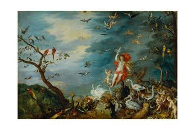 Air-one of four paintings showing the four elements, ordered in 1607 by Cardinal Federico Borromeo.