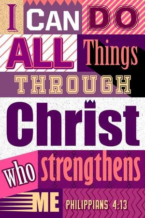 All Things Through Christ (pink)
