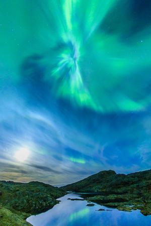 Northern Lights over Tasiilaq Fjord.