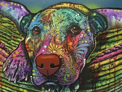 Safe and Sound, Dogs, Animals, Pets, Laying in bed, Stencils, Pop Art