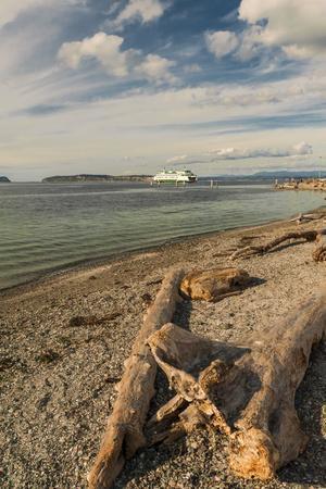 USA, Washington State, Mukilteo. Ferry to Whidbey Island on the Puget Sound
