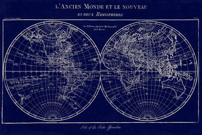 Map of the World Indigo