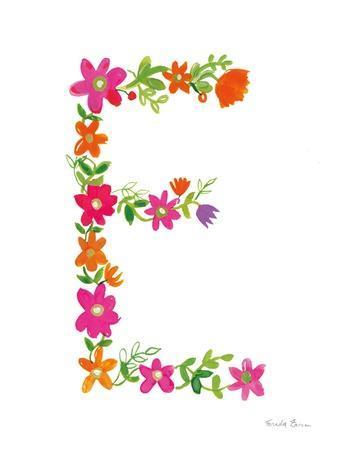 Floral Alphabet Letter V