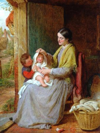 Playing With Baby, 1863