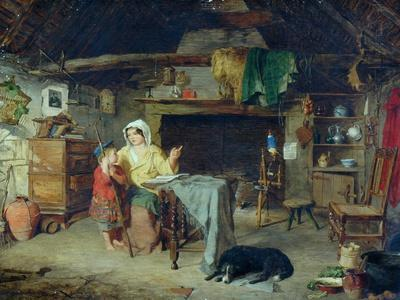 The Ettrick. Shepherd Boy Receiving his first impressions from his mother, 1858