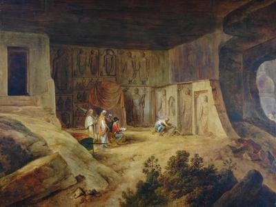 Inside Of Kanaree Cave At Salsette, 1827
