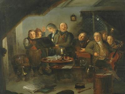 The Halifax Church Choir practicing at the Ring O' Bells Inn, 1796