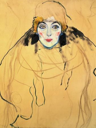 Frauenkopf-Female head,1917 / 18 67 x 56 cm.