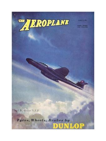 The Aeroplane' magazine cover - A W Meteor NF11 Aircraft, 1951