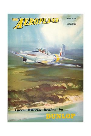 The Aeroplane' magazine cover - Boulton Paul Balliol Aircraft, 1951