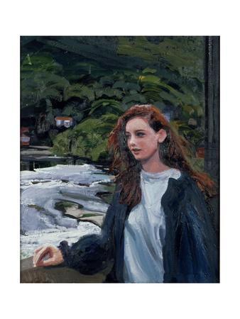 Young Woman at the Bridge at Llangollen, 1996