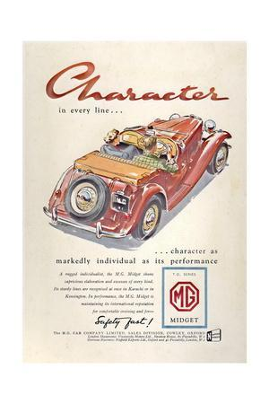 Press Advertisement for the MG Midget, 1950s