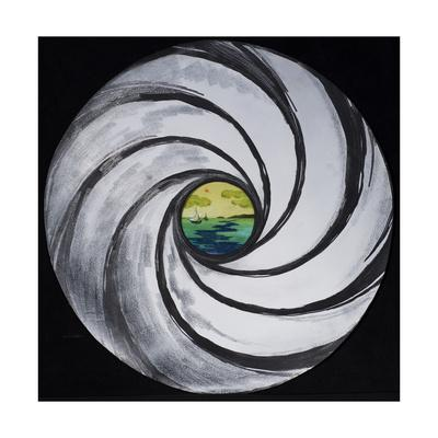 Lense Swirl with Sea and Clouds, 2005