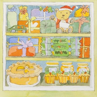 Christmas cupboard interior