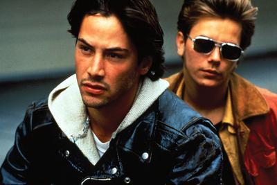 """KEANU REEVES; RIVER PHOENIX. """"My Own Private Idaho"""" [1991], directed by GUS VAN SANT."""
