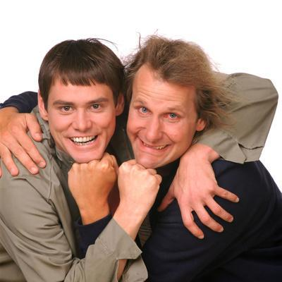 """JEFF DANIELS; JIM CARREY. """"DUMB AND DUMBER"""" [1994], directed by BOBBY & PETER FARRELLY, BOBBY FA..."""