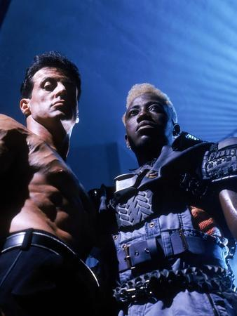"WESLEY SNIPES; SYLVESTER STALLONE. ""Demolition Man"" [1993], directed by MARCO BRAMBILLA."