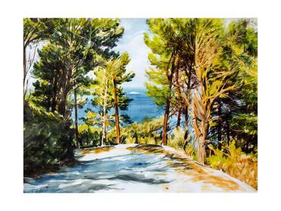 Road Leading to the Sea, Skiathos, Greece