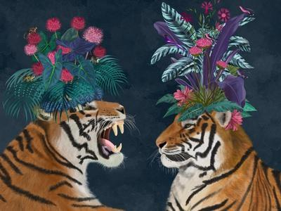 Hot House Tigers, Pair, Dark