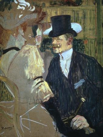 'The Englishman at the Moulin Rouge', 1892. Artist: Henri de Toulouse-Lautrec