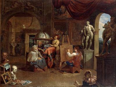 Artist studio scene, (1680-1720?).  Artist: Gerard Thomas