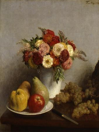 'Fruit and Flowers', 1865.  Artist: Henri Fantin-Latour