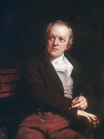 William Blake, English mystic, poet, artist and engraver, 1807. Artist: Thomas Phillips
