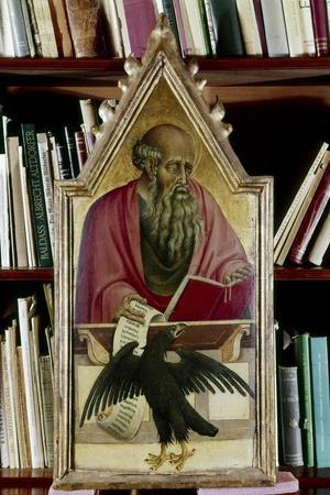 St John the Evangelist shown with his symbol, an eagle, 15th century. Artist: Giovanni di Paolo