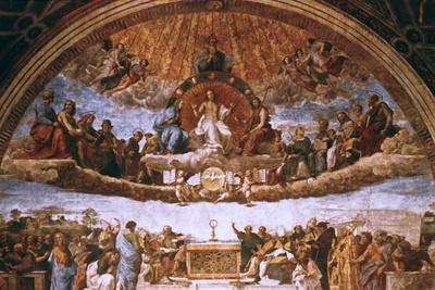 'The Disputation on the Holy Sacrament', 1508-1509. Artist: Raphael