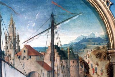'St Ursula Shrine, Departure from Basle', Detail, 1489. Artist: Hans Memling