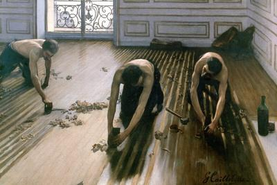 'The Parquet Planers', 1875. Artist: Gustave Caillebotte