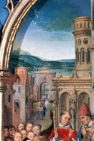 'St Ursula Shrine, Arrival in Rome', Detail, 1489. Artist: Hans Memling