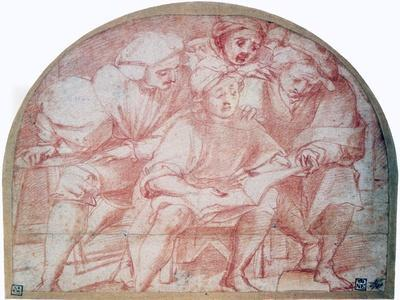 'Four Courtiers', c1514-1557. Artist: Jacopo Pontormo