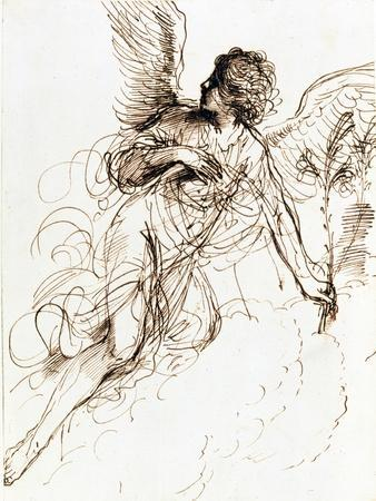'Study of an Angel', c1611-1666. Artist: Guercino