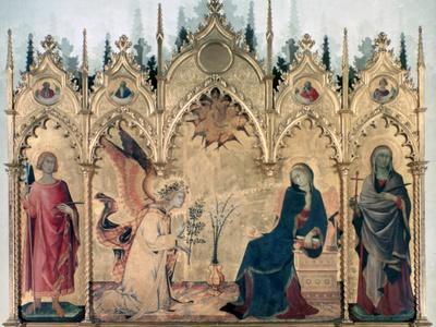 'The Annunciation and Two Saints', 1333. Artist: Simone Martini